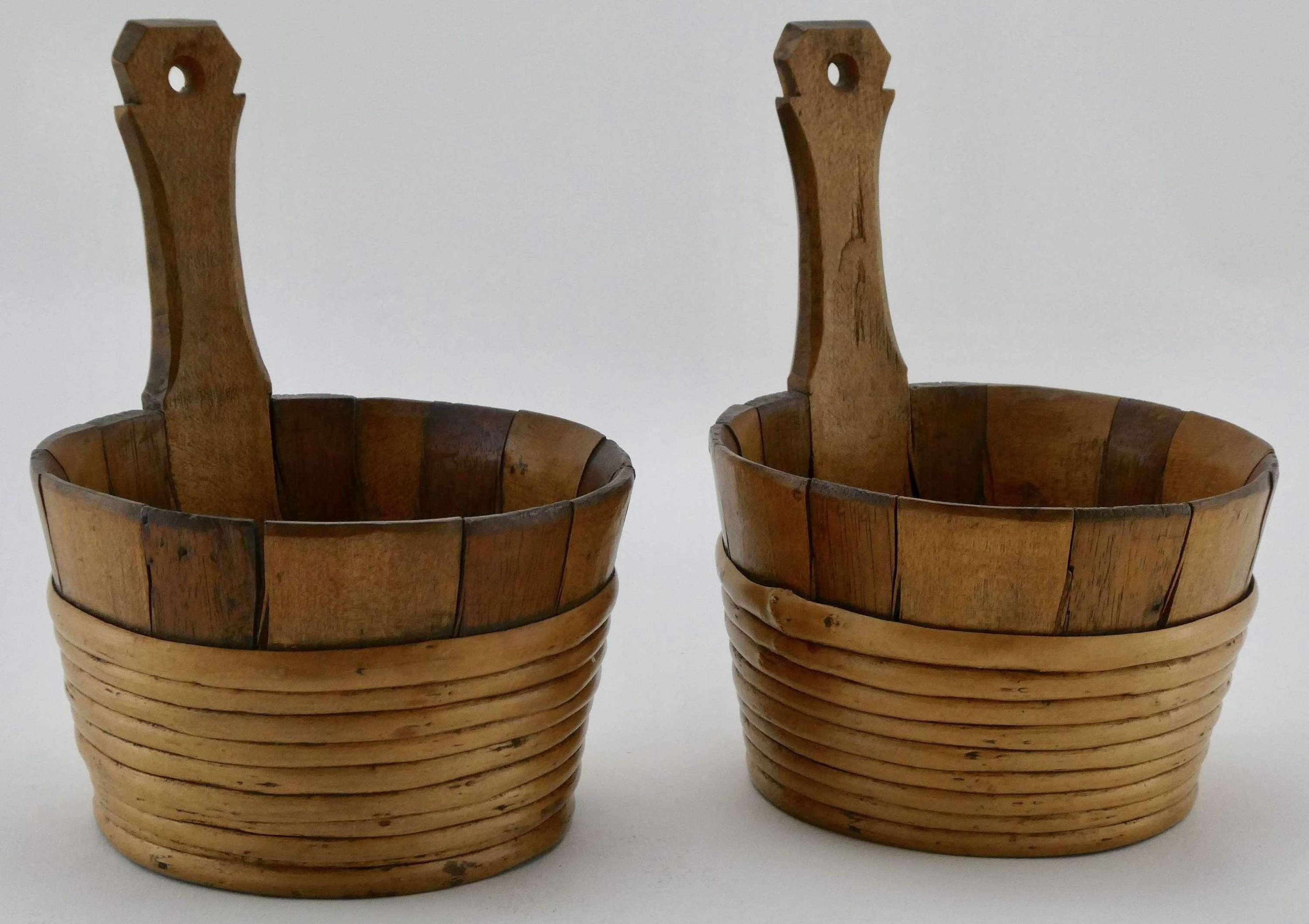 Pair of 19th Century Treen Luggies