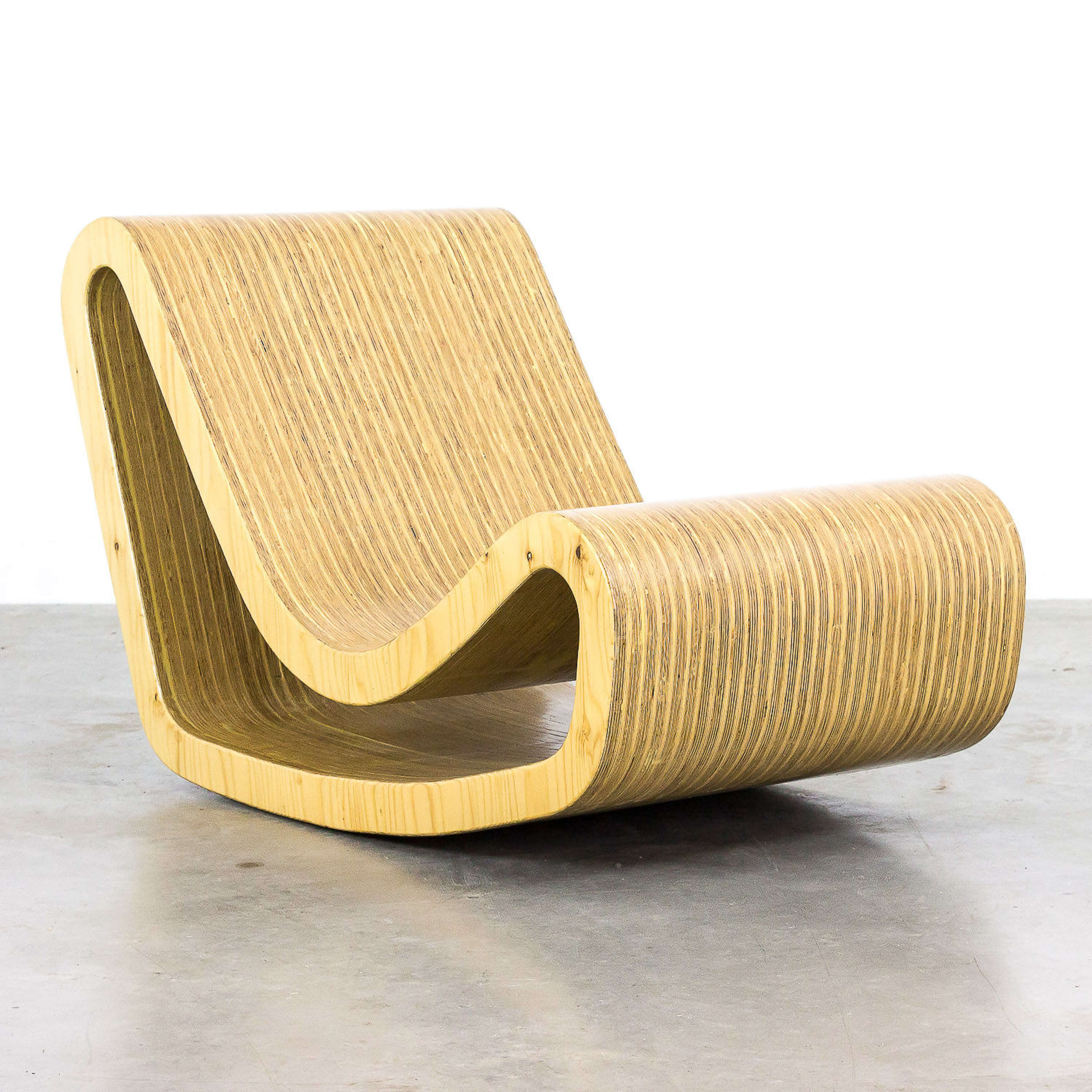 Wooden Loop Chair inspired By Willy Guhl