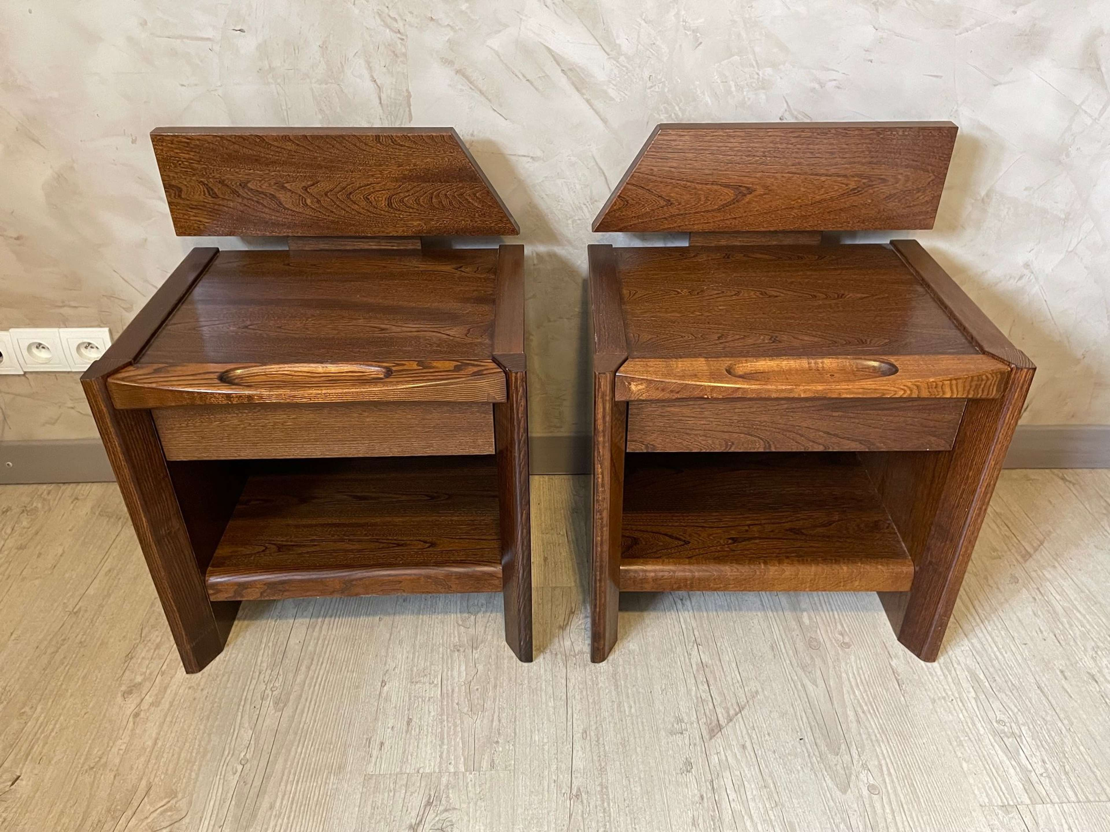 20th century Rosewood Baumann Pair of side tables