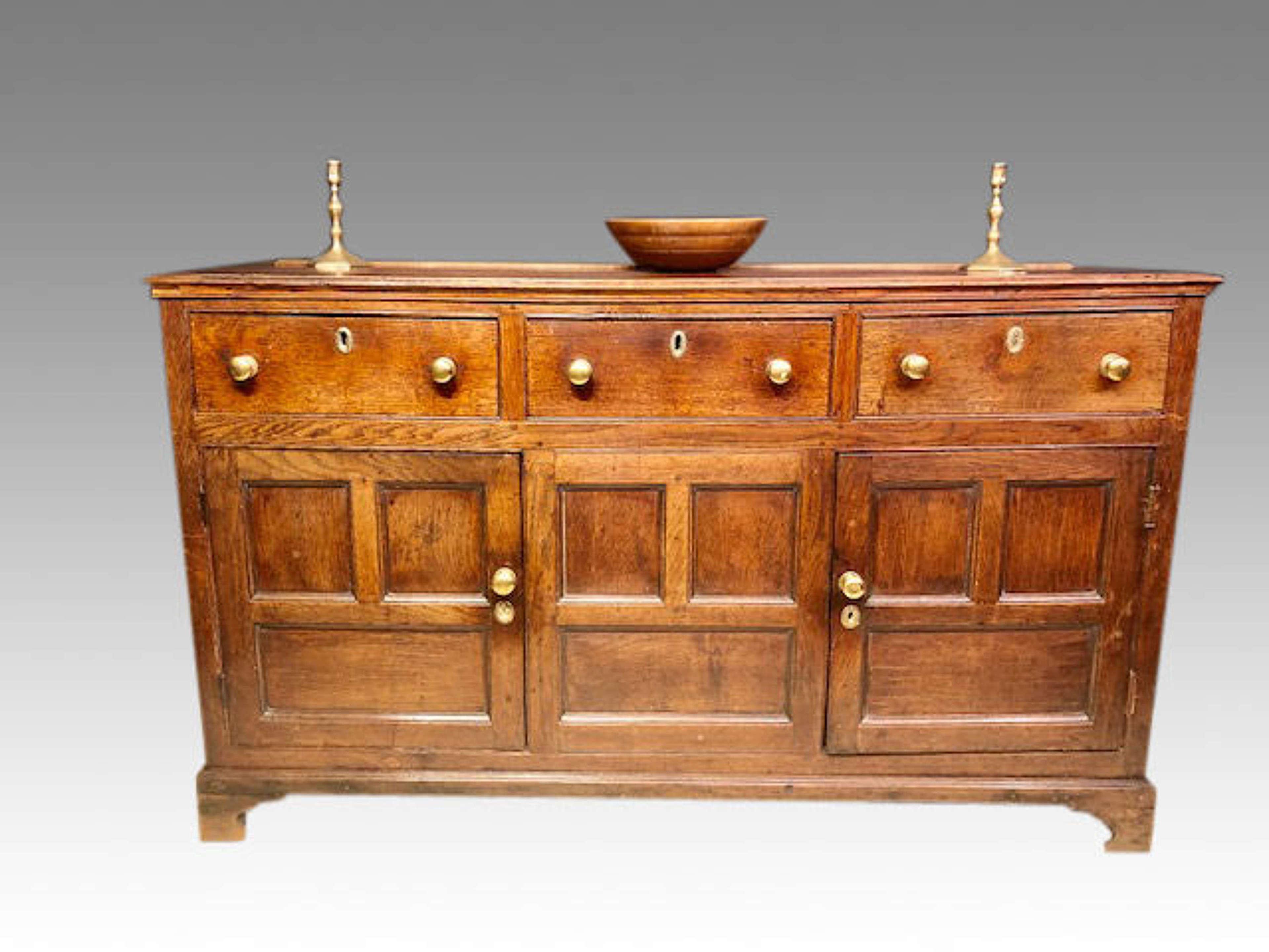 Geo III oak dresser base.