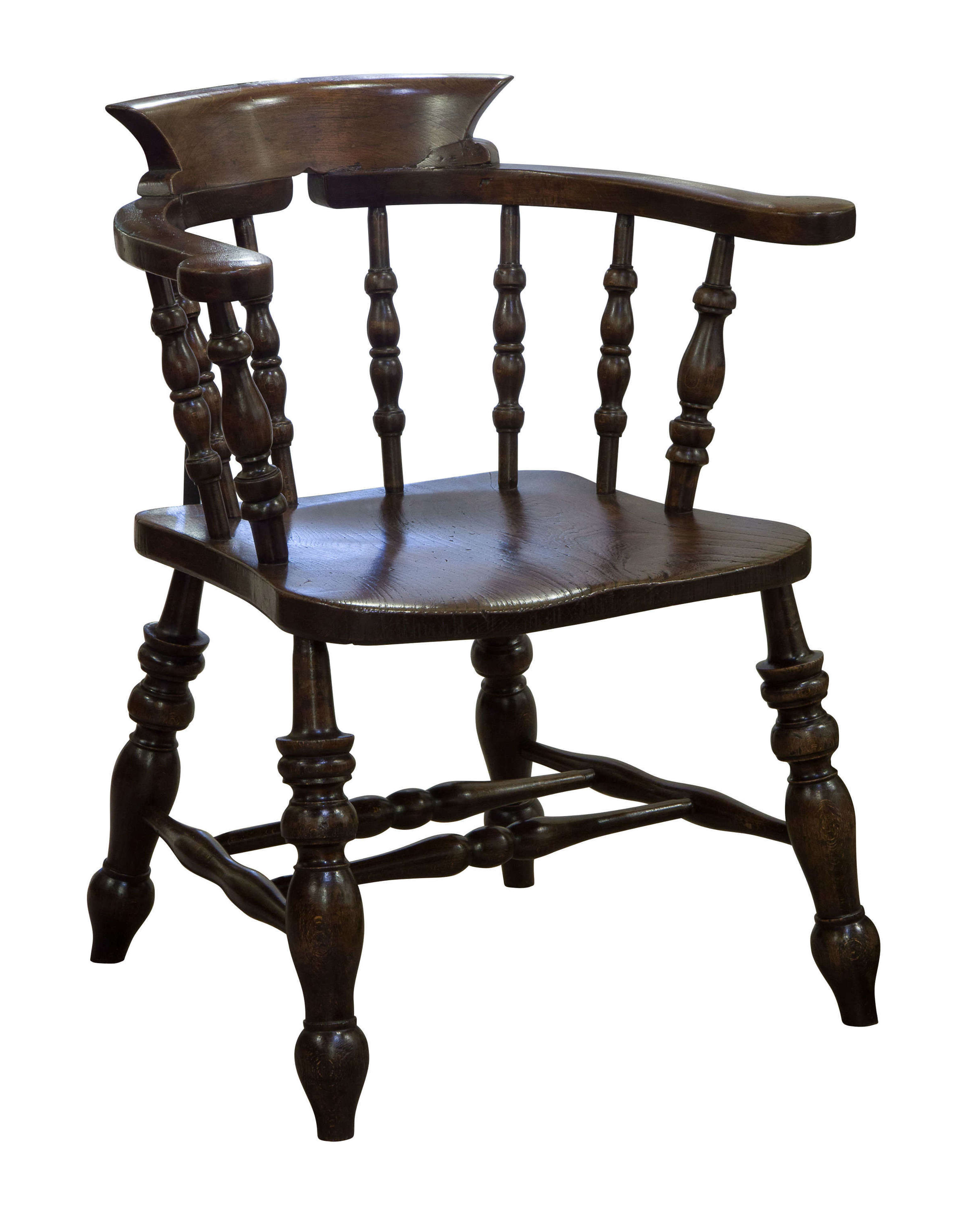 19thCentury Smokers Bow Chair