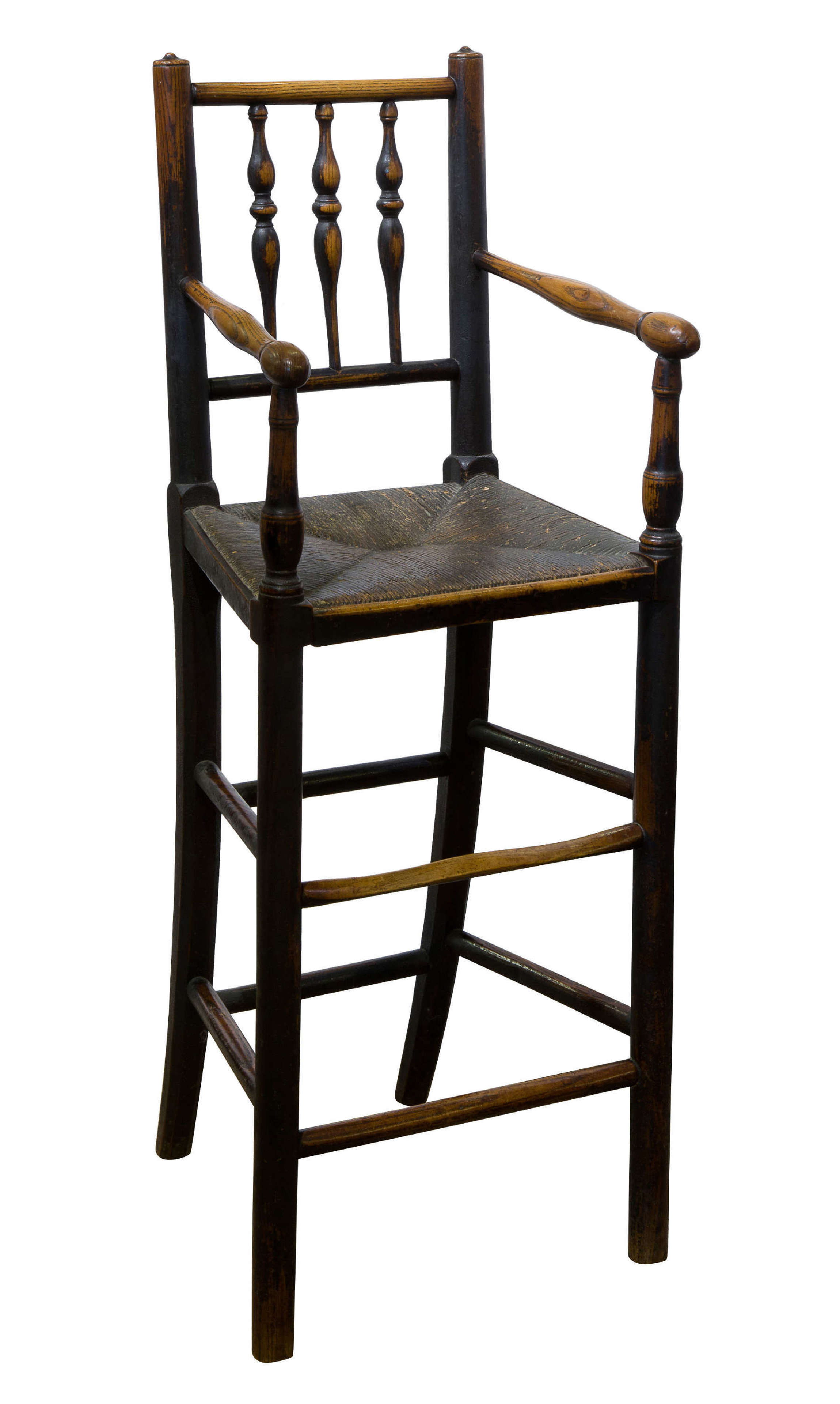 Early 19th Century turned Ash spindle back child's chair