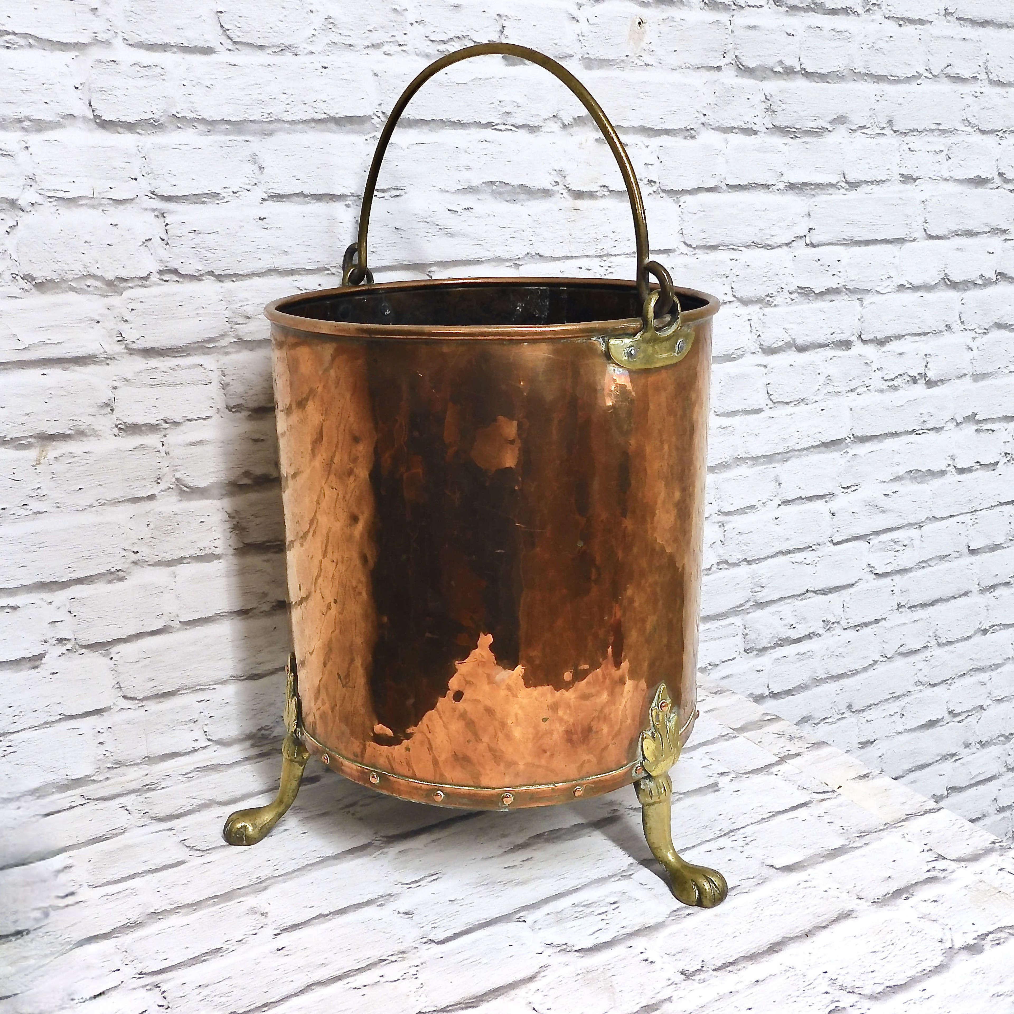 C19th Copper Coal Bucket