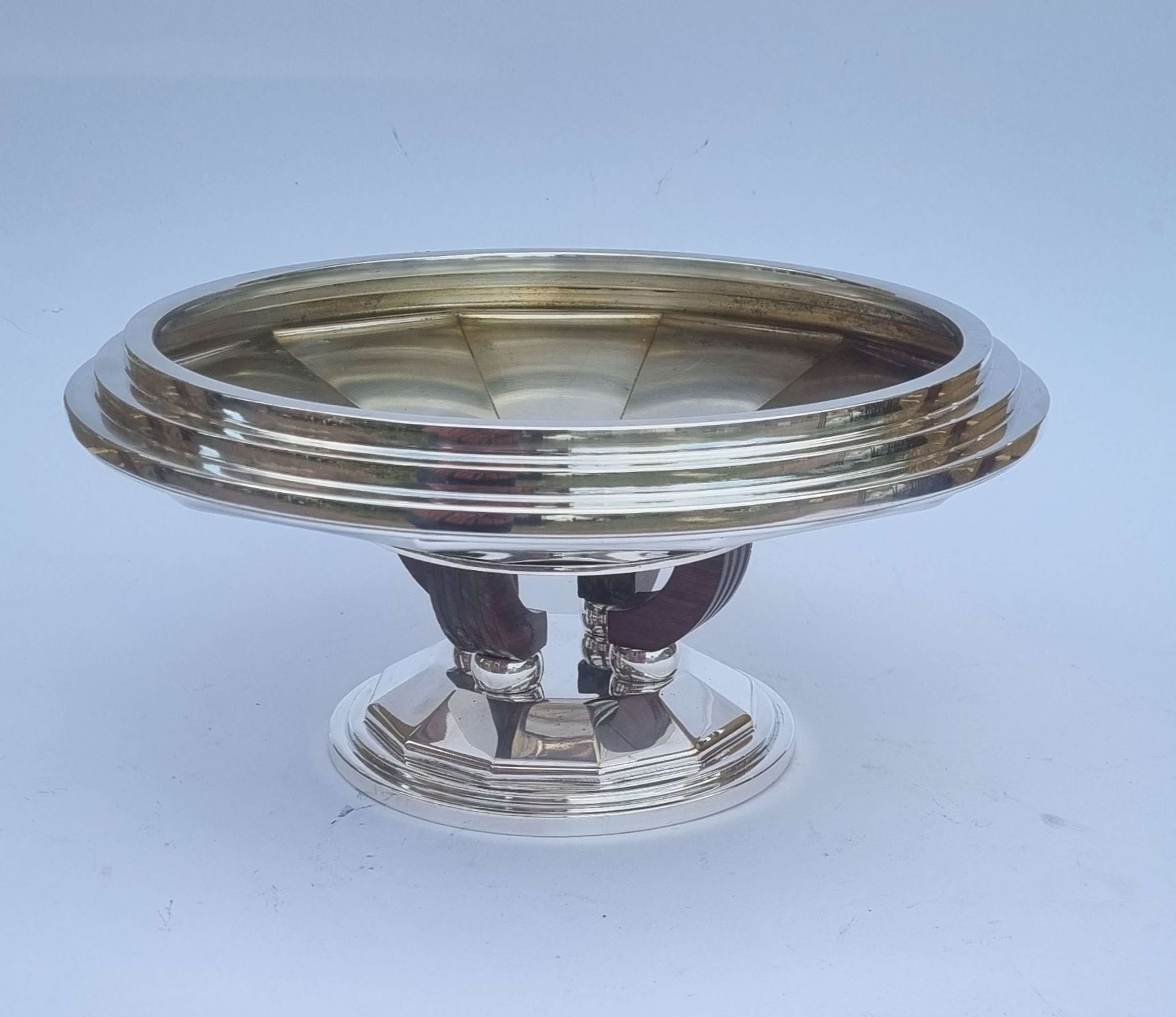 A very smart and good quality French Art Deco coupe fruit bowl
