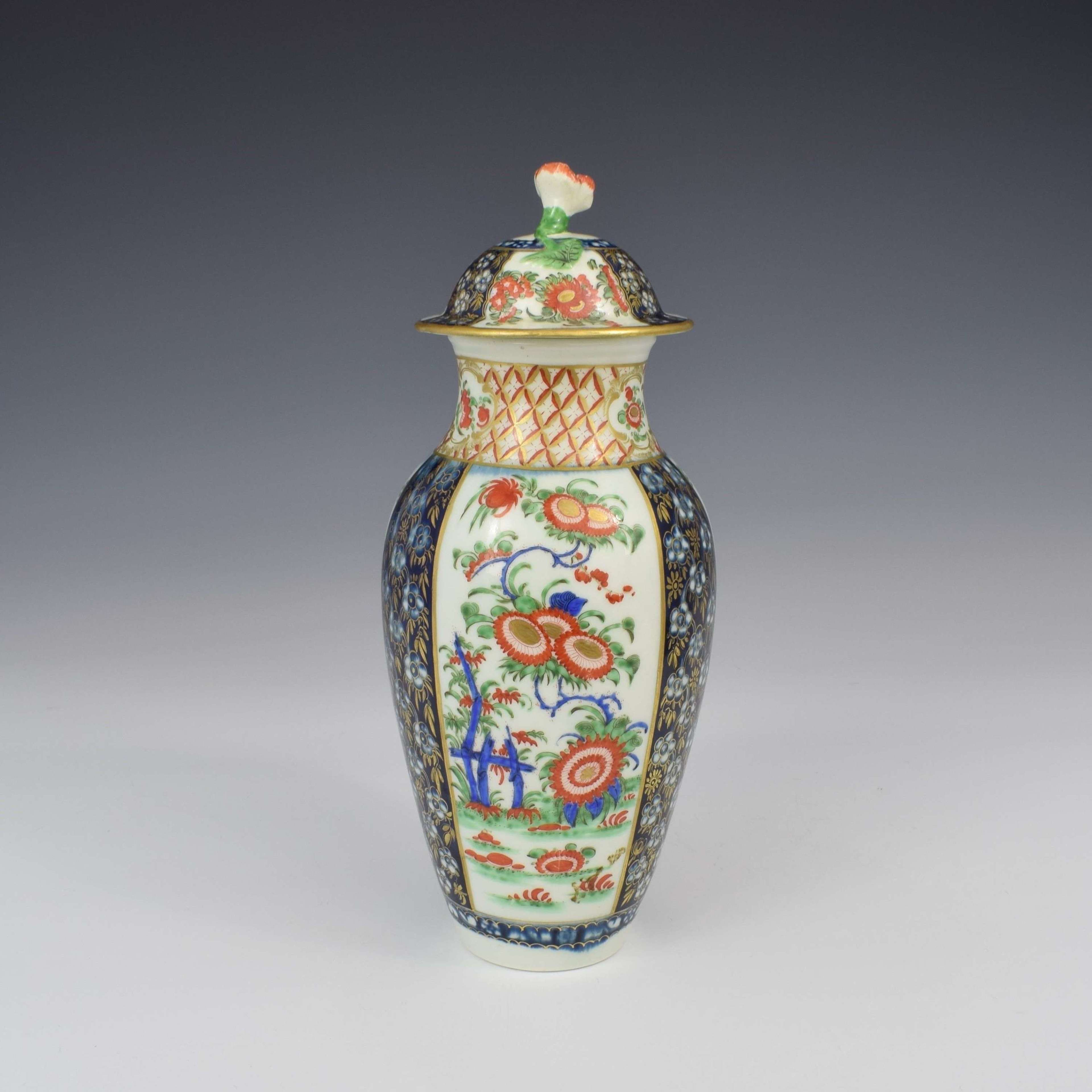 First Period Worcester Porcelain Kakiemon Vase & Cover Ex-Zorensky