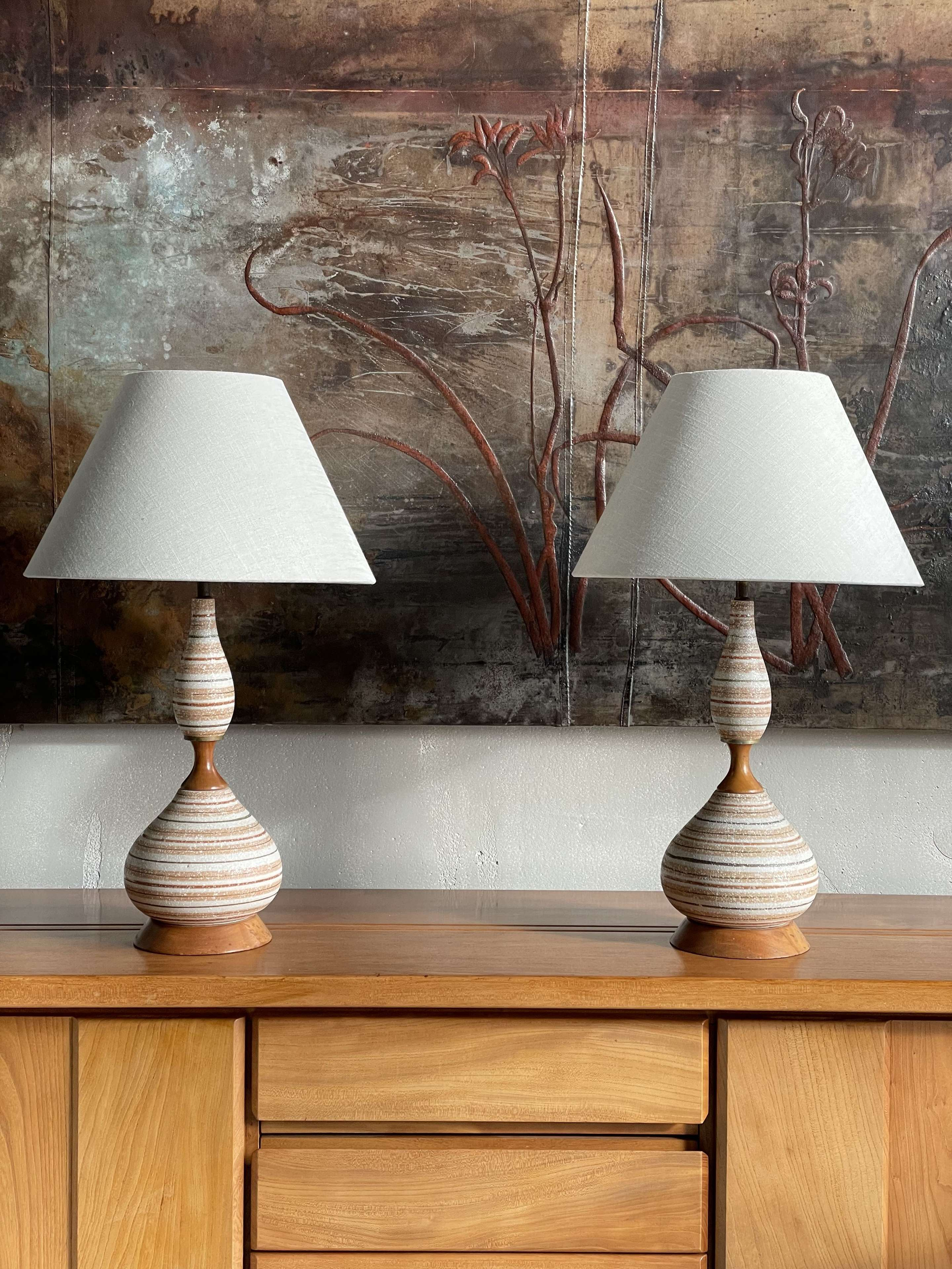 A pair of 1960s American Table Lamps
