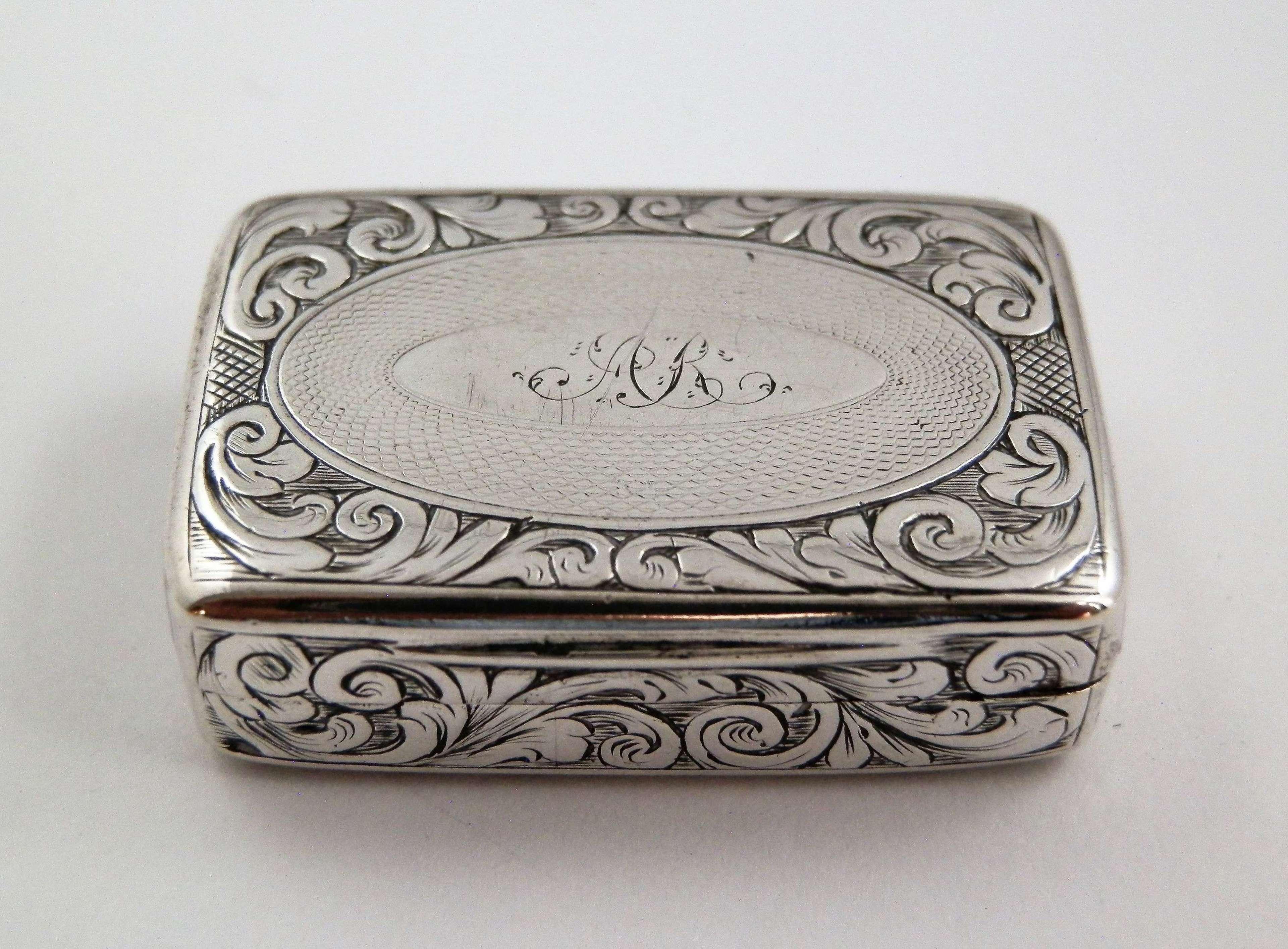 Early Victorian silver vinaigrette, Joseph Wilmore, 1841