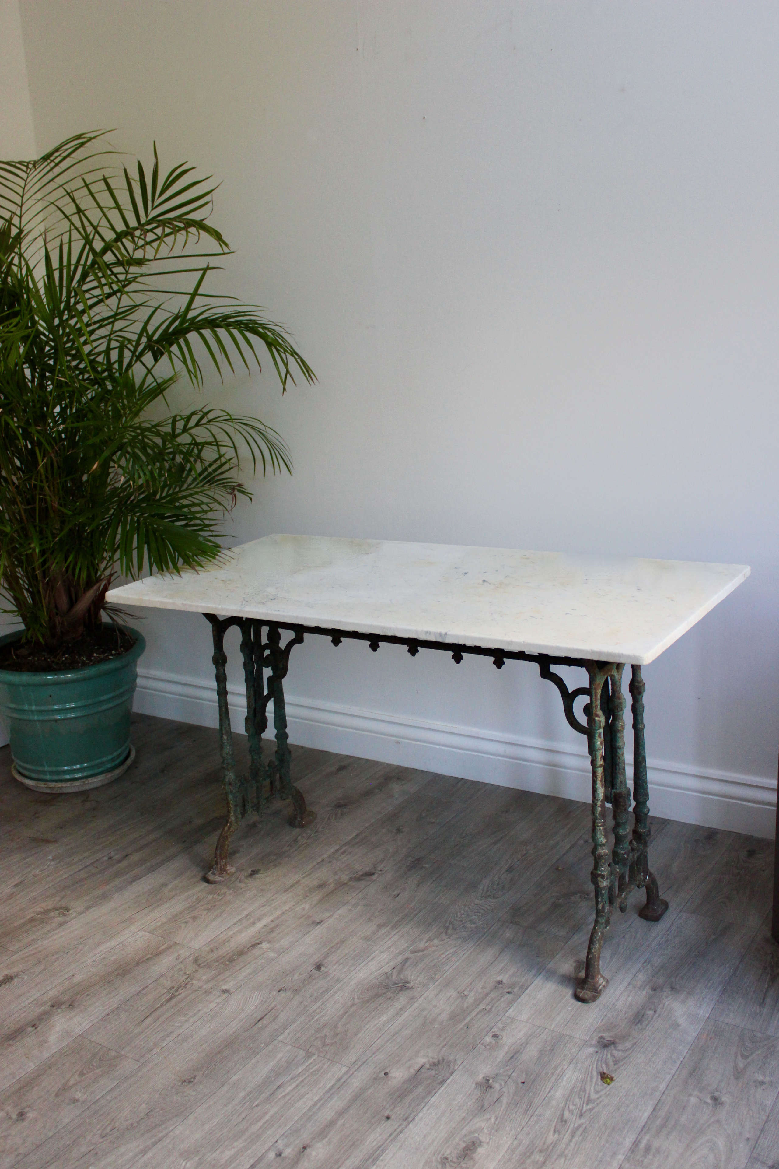 Garden room marble topped table