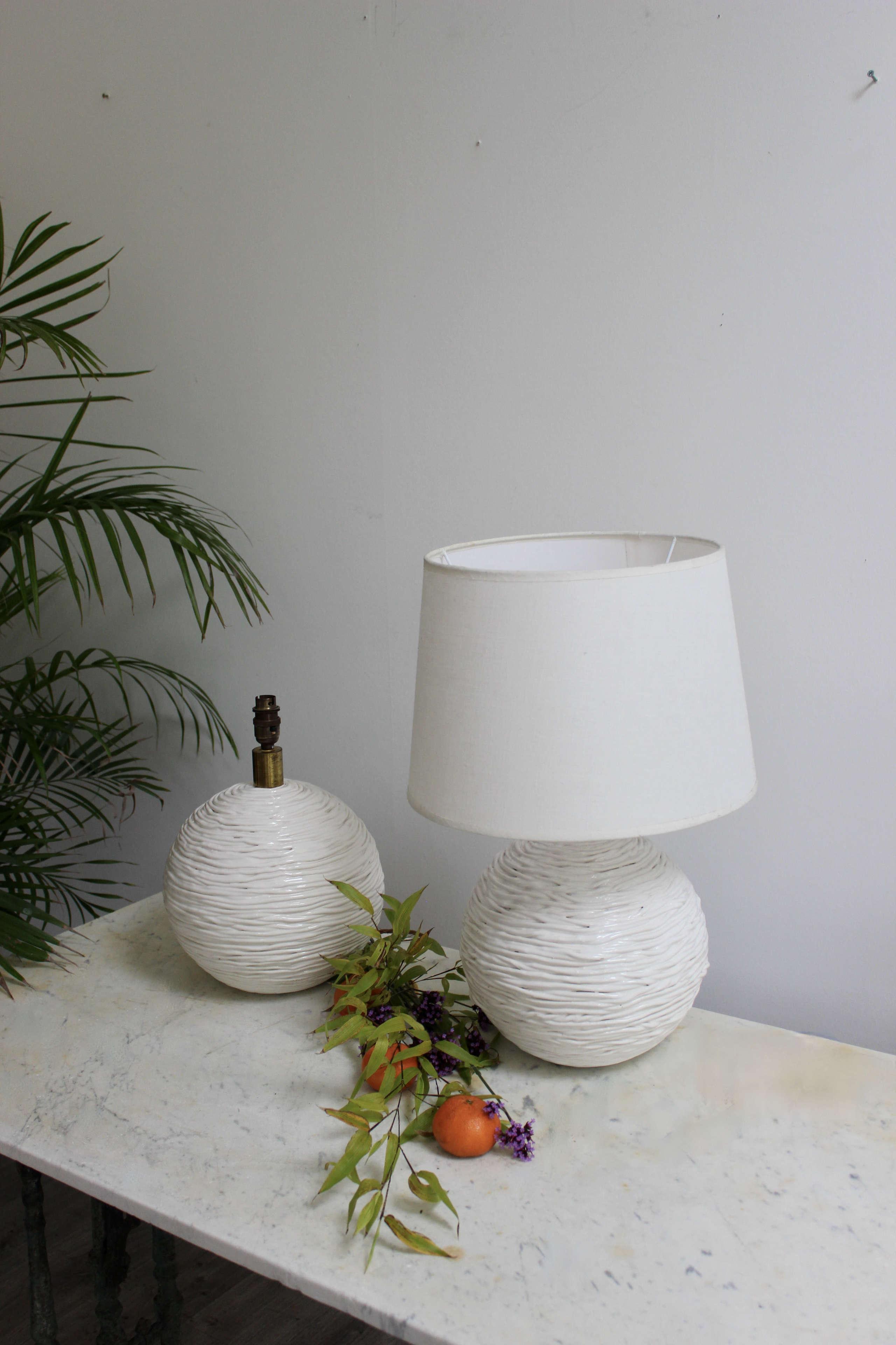 Pair of mid century Spanish ceramic lamps