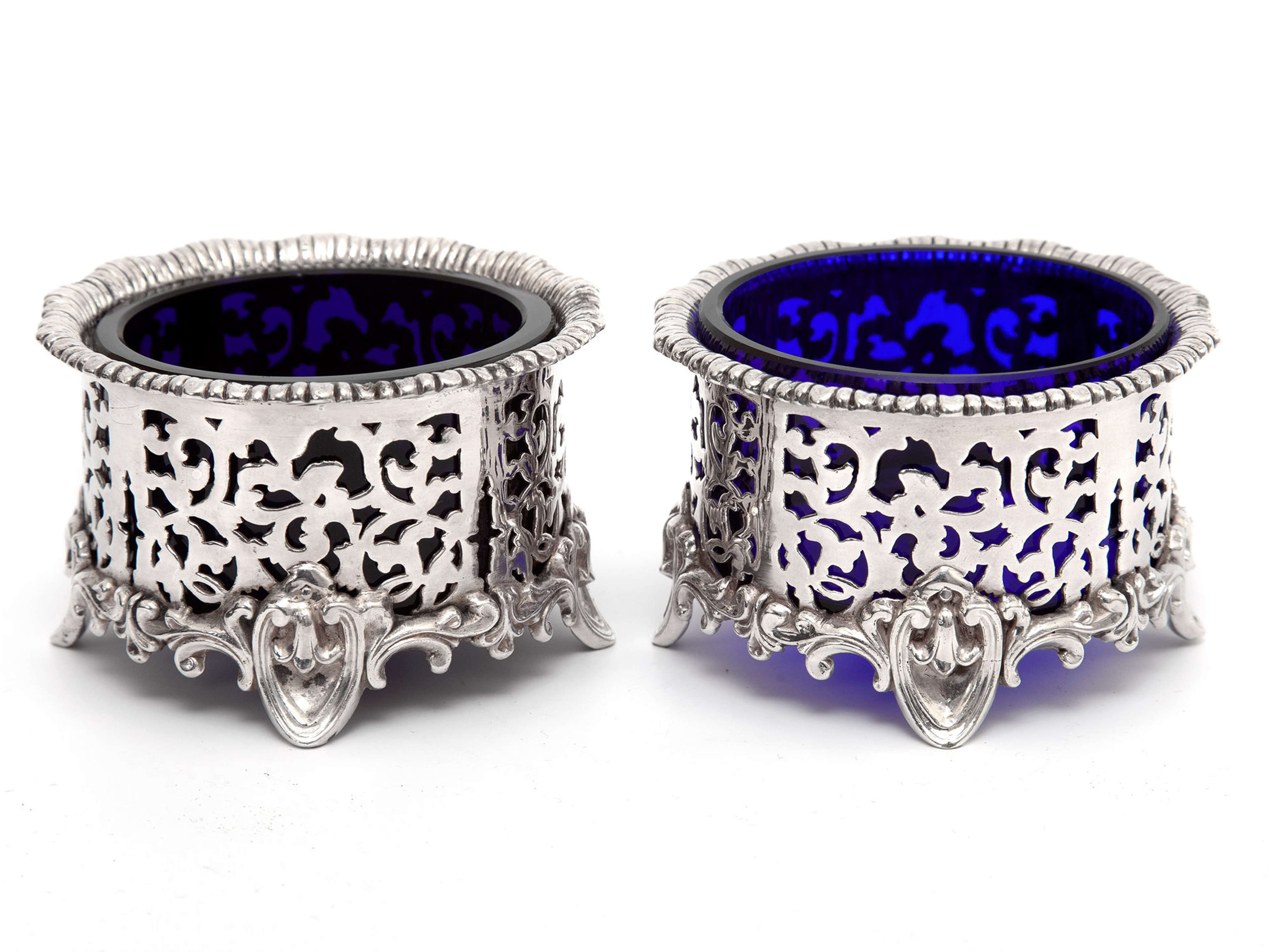 Pair of Elkington & Co Silver Plated Salts