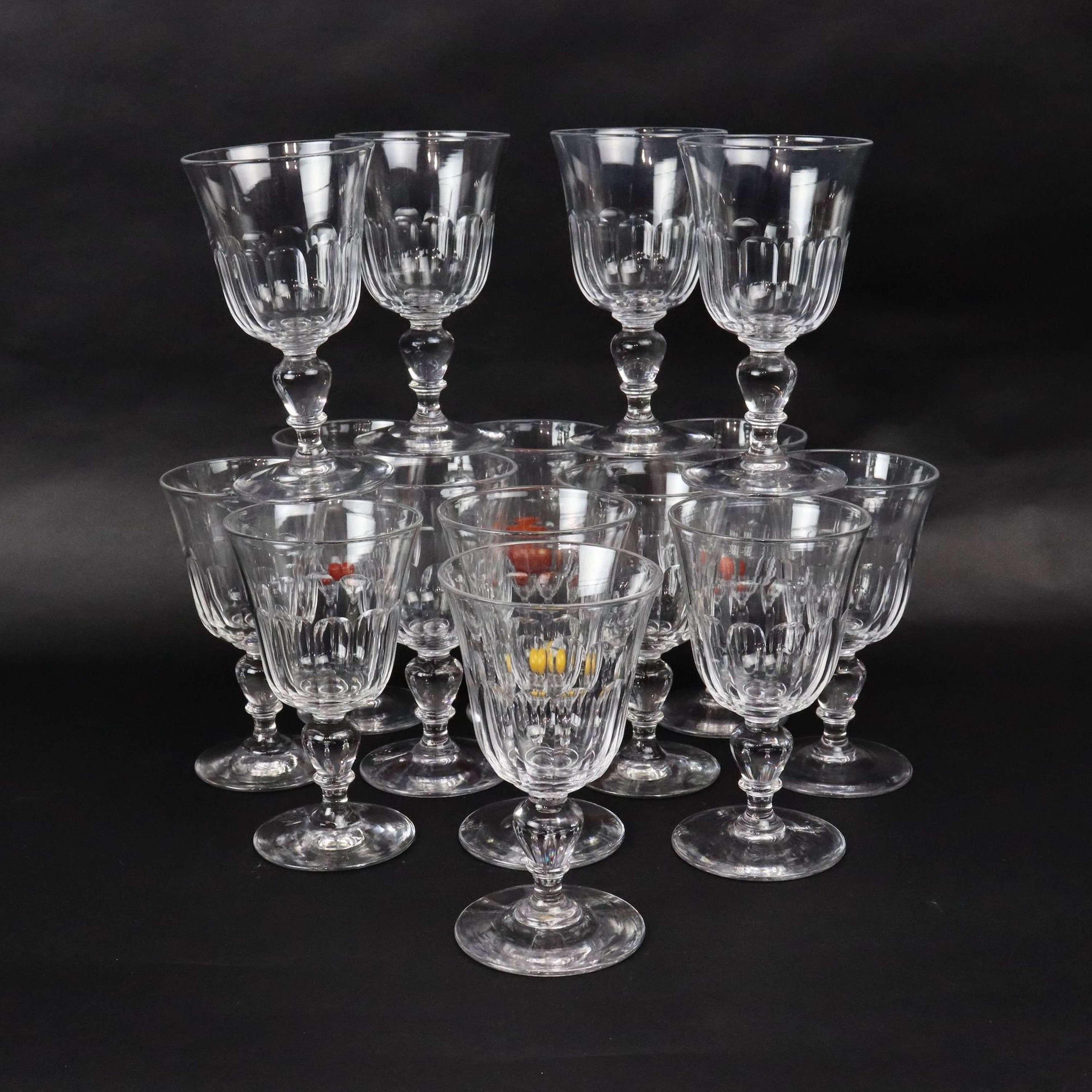 Baccarat crystal wine glasses