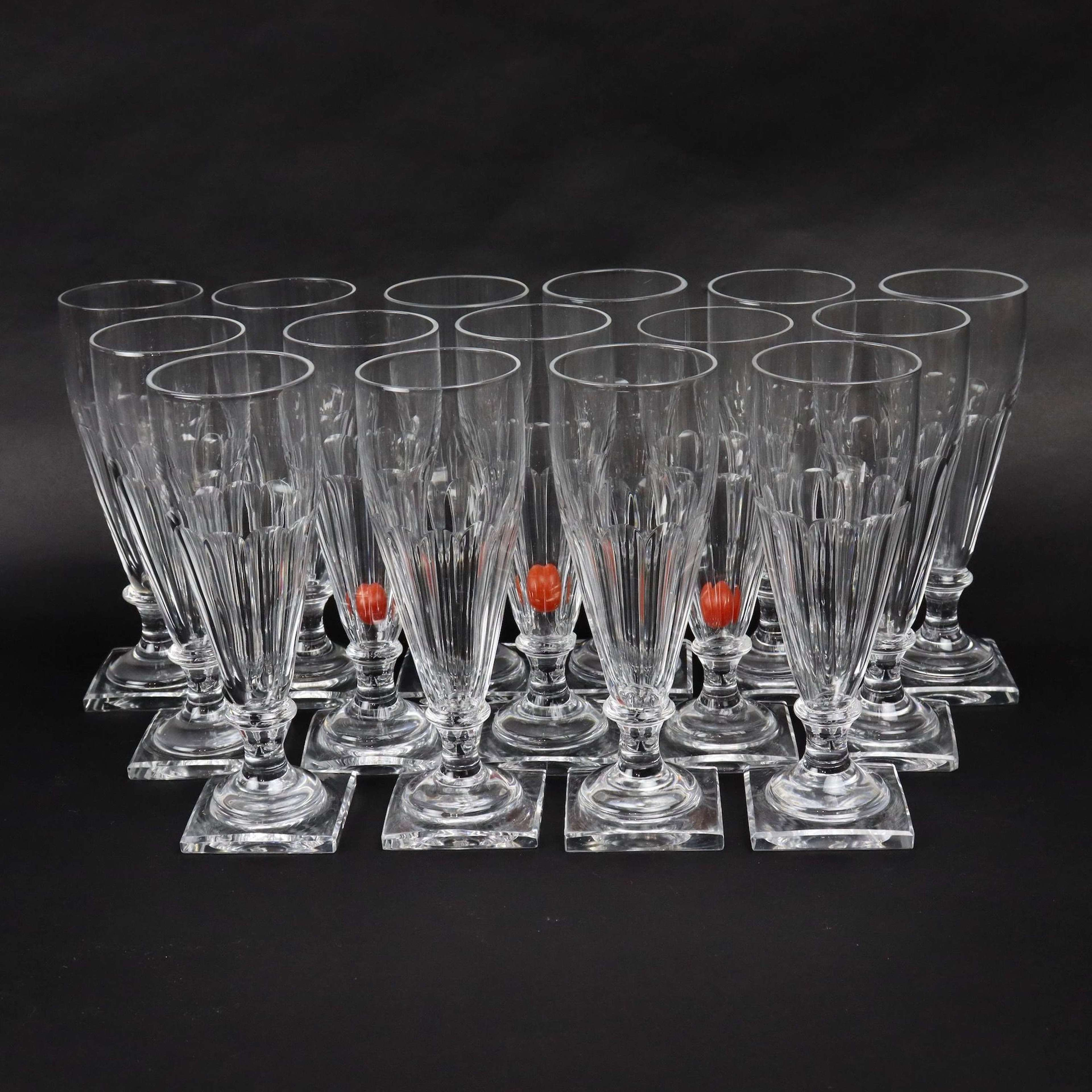 Baccarat crystal champagne coupes