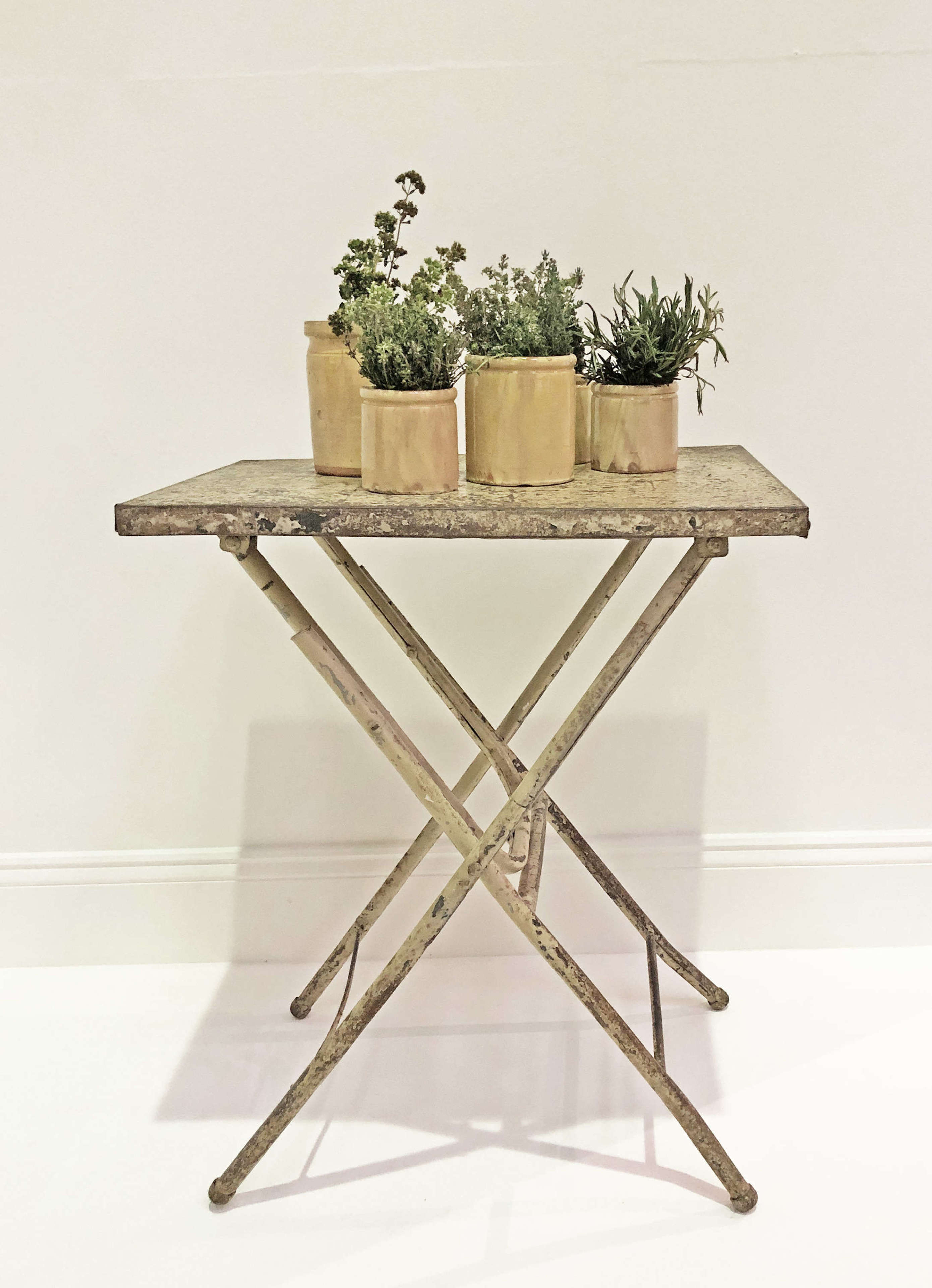 Little painted metal folding Table - circa 1940