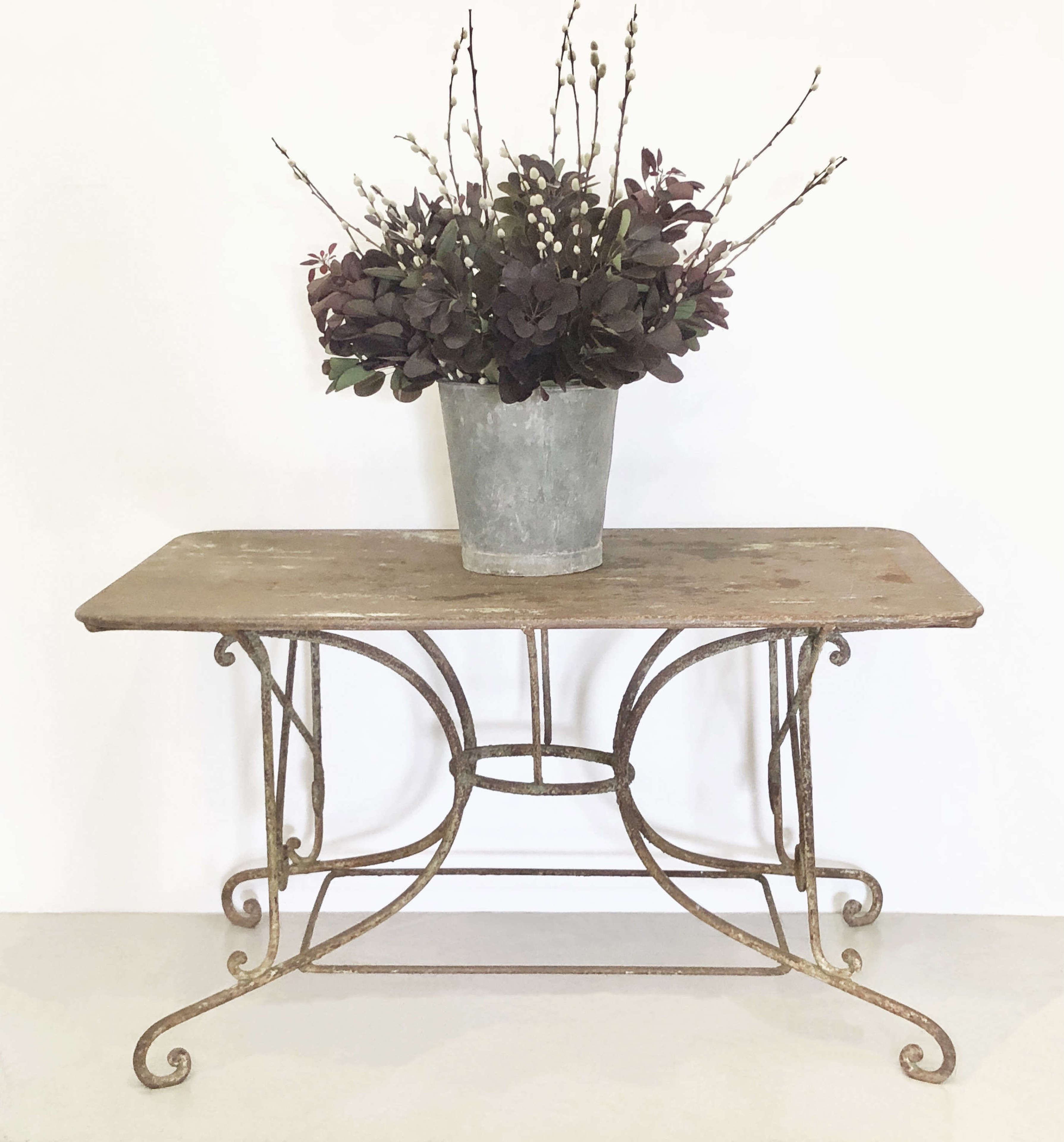 19th c Large French Wrought Iron Table - circa 1870