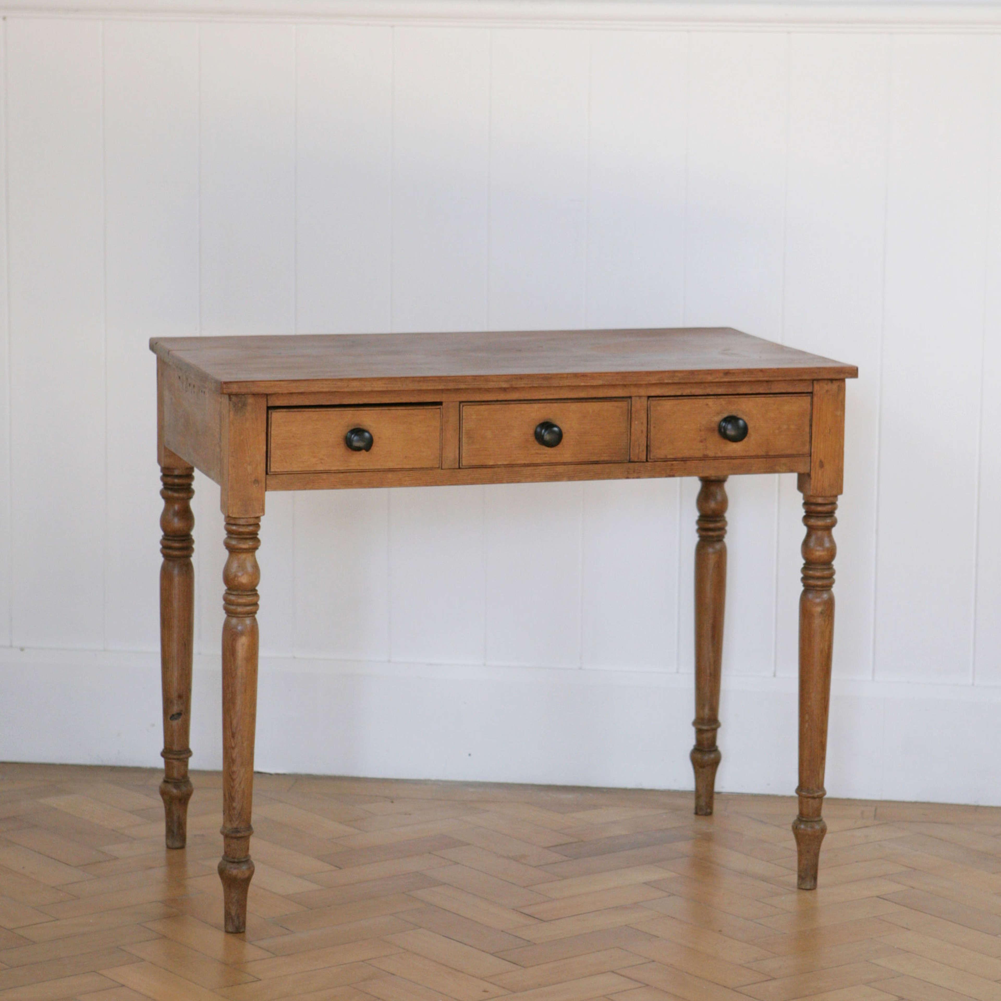 Decorative original pine side table.