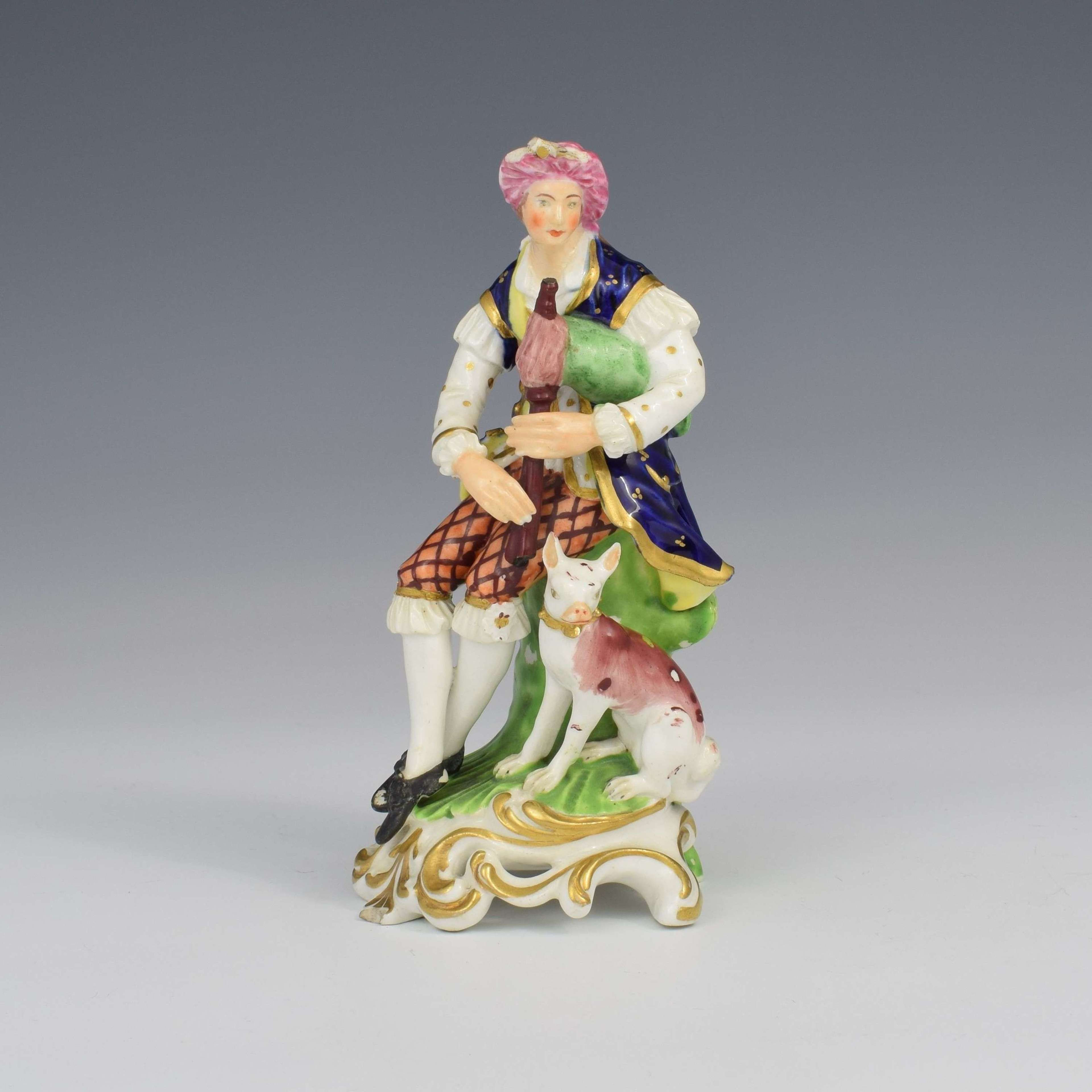 Bloor Derby Porcelain Figure Shepherd